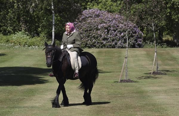 Queen Elizabeth II spotted riding horse; seen for the first time since COVID-19 lockdown in UK