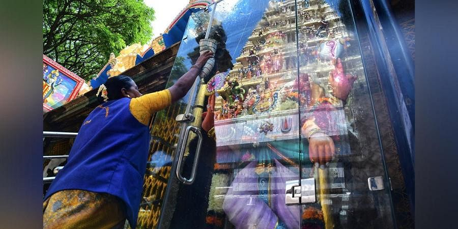 Kote Venkataramana Swamy temple being cleaned ahead