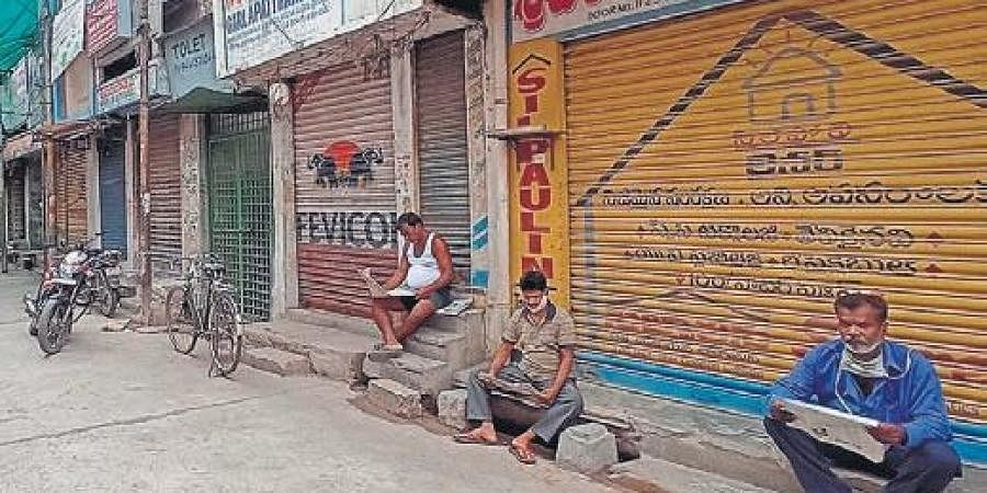 Vijayawada's One Town area, which was declared a containment zone after detection of fresh cases, wears a deserted look on Wednesday   P Ravindra Babu