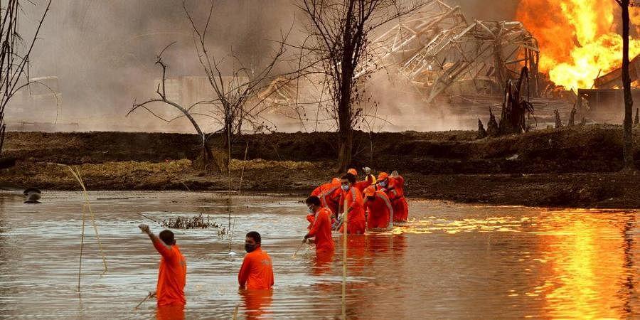 Assam OIL well fire