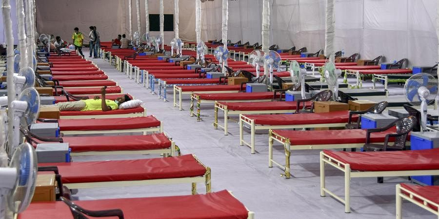 A quarantine center with 300 beds set up for treating COVID-19 patients during the ongoing nationwide lockdown at Nagpada area in Mumbai Friday June 12 2020