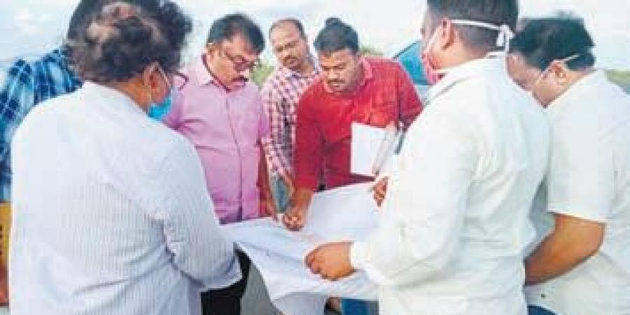 District collector Pola Bhaskar visits a Prakasam village on Sunday