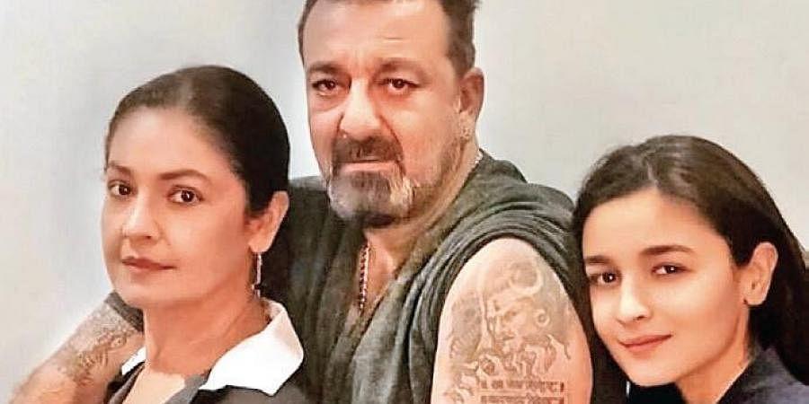 Pooja Bhatt, Sanjay Dutt and Alia Bhatt
