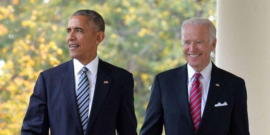Former US president Barack Obama and ex-Vice President Joe Biden (File Photo | AP)