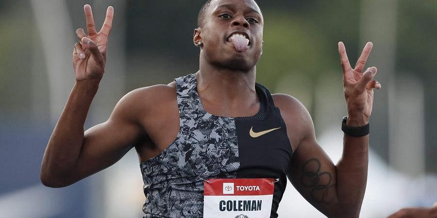 US athlete Christian Coleman