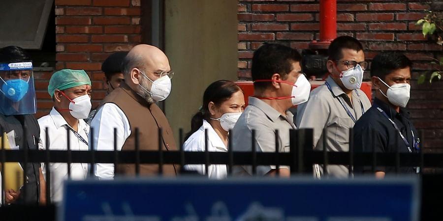 Union Home minister Amit Shah visits LNJP hospital to review Covid-19 preparedness in New Delhi