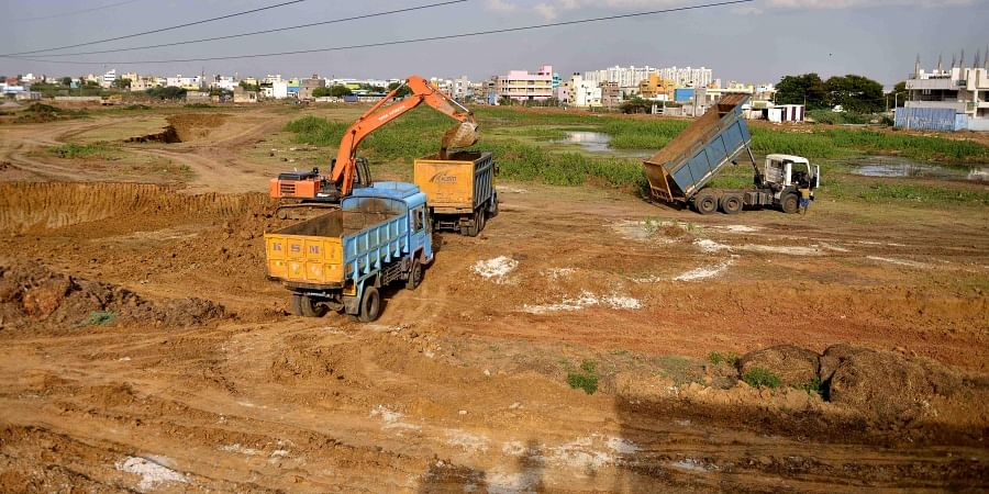 Rejuvenation works of Madhanankuppam Pond at Ambattur