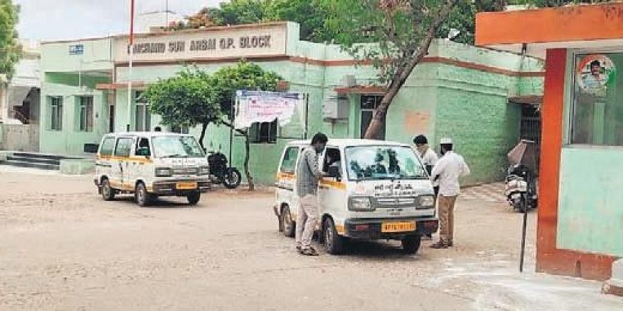Patients being sent home from MCH in Adoni town on Thursday