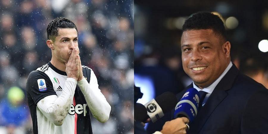 Cristiano Ronaldo (L) and Ronaldo (R)