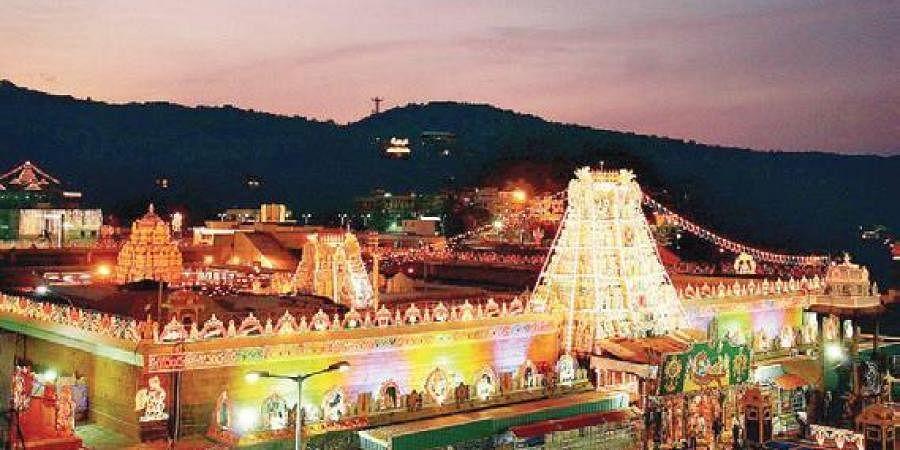 Andhra Pradesh's Tirumala temple.
