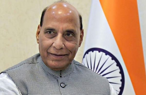 Defence Minister Rajnath Singh surprises everyone by attending adopted son's wedding