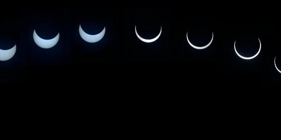 A large number of people flocked to several places across the country to see the solar eclipse on December 26, 2019. The solar eclipse, which occurs when the Moon passes between the Earth and the Sun, began at around 8:17 am and continued till 10:57 am.
