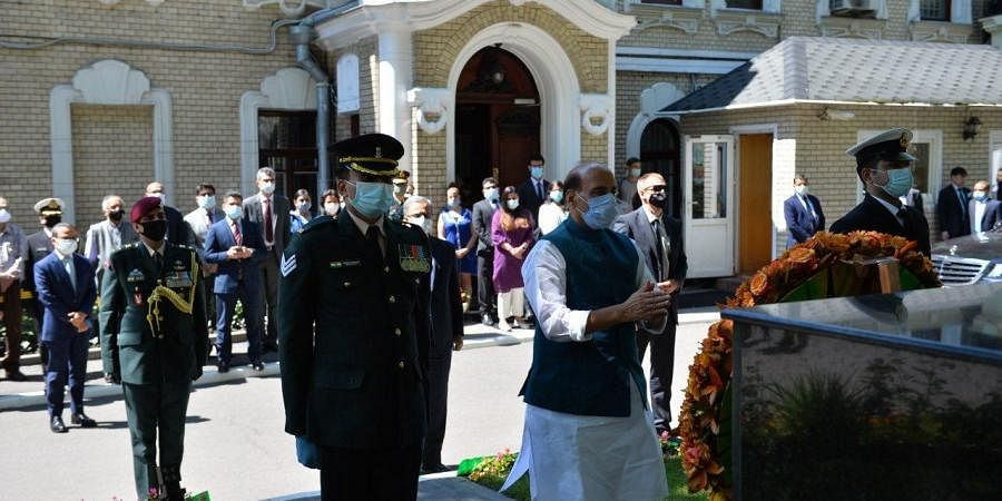Rajnath Singh arrived in Moscow on a three-day visit on Tuesday at the invitation of the Russian Ministry of Defence to attend the 75th Anniversary of Victory Day Parade