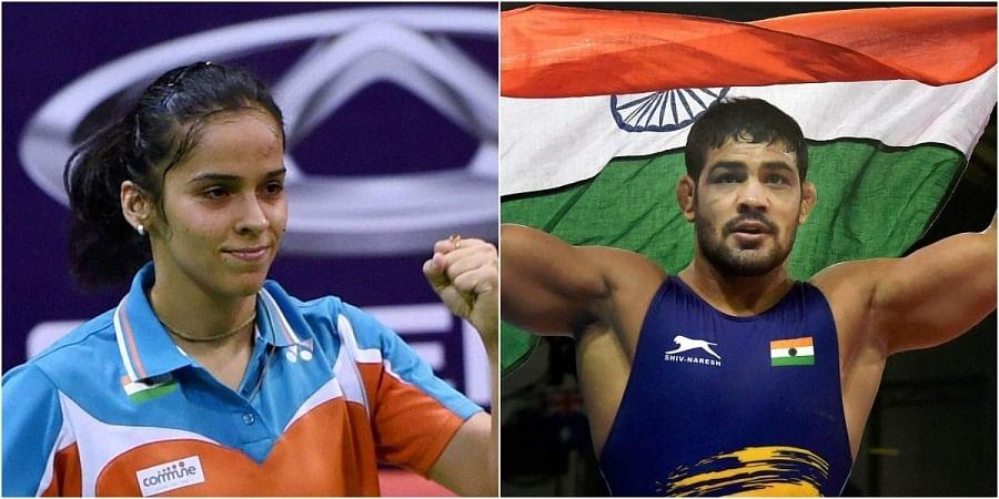 Shuttler Saina Nehwal and Wrestler Sushil Kumar (Photos   PTI)