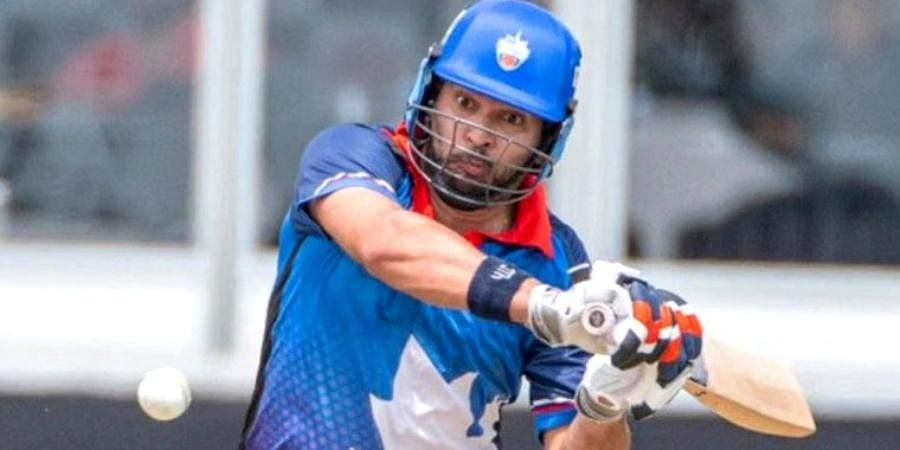 Yuvraj Singh in action during the  Global T20 Canada.