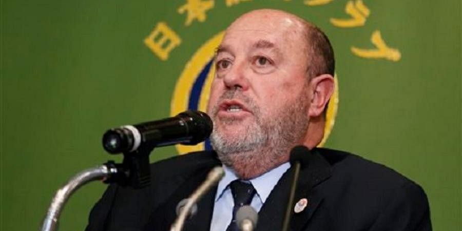 World Karate Federation President Antonio Espinos