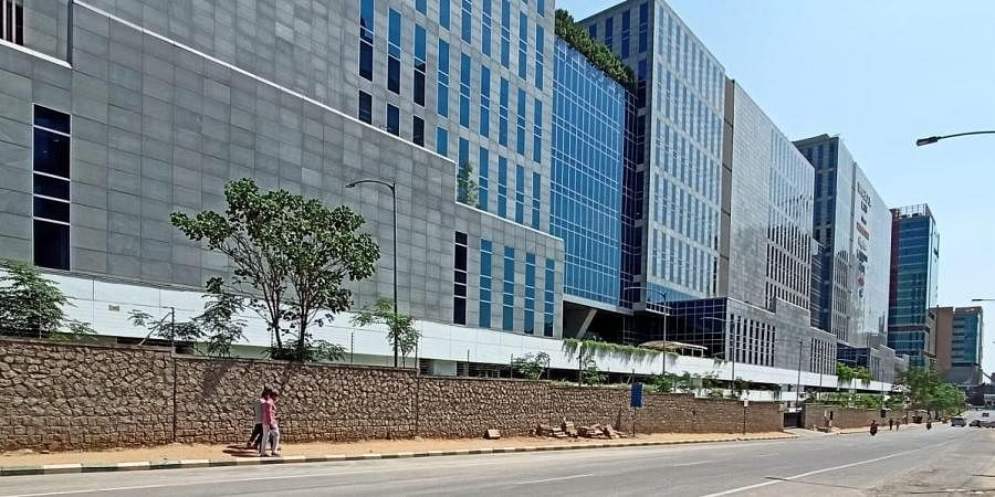 With coronavirus cases rising, many IT companies have given work from home option to the employees. A Deserted look of roads in IT corridors in Hyderabad.