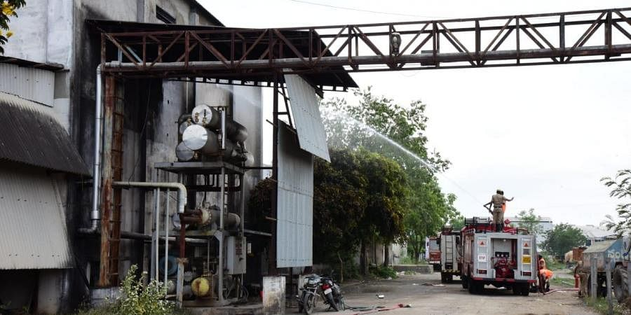 Ammonia gas that leaked from the industry at Nandyal in Kurnool district of Andhra Pradesh on Saturday
