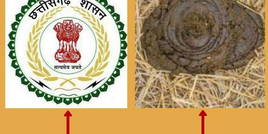 The former BJP minister Ajay Chandrakar had tweeted suggesting the government to make 'cow-dung' as the state emblem.