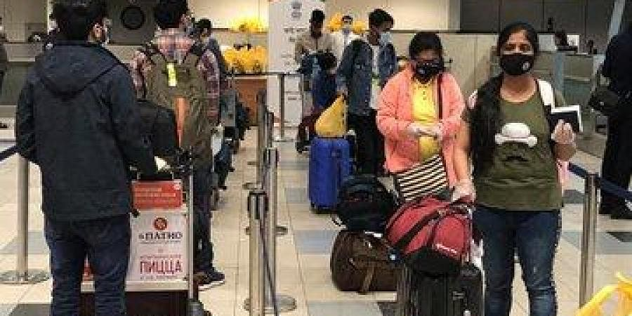 Moscow-Gaya (Bihar) flight with 143 passengers took off today.