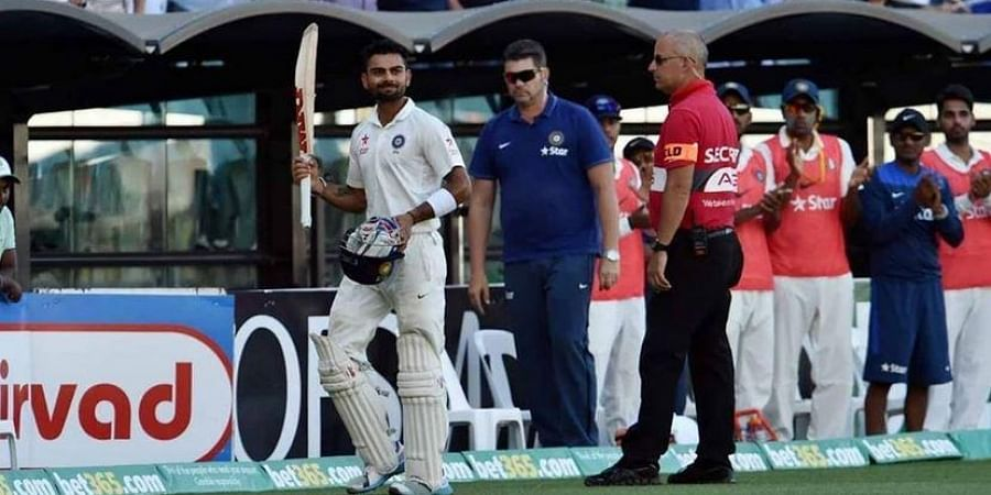 Kohli scored a brilliant ton (141) and Murali Vijay also contributed with valuable 99. (Photo | Twitter)