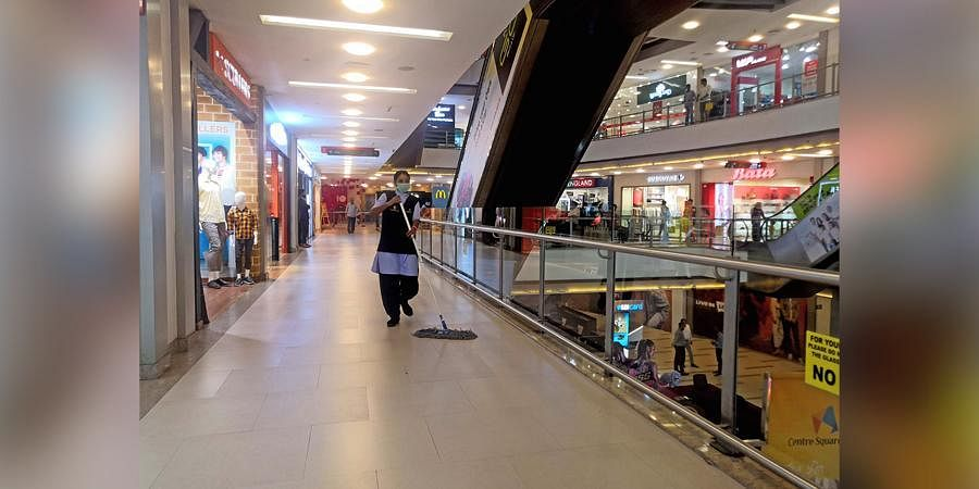 Amid COVID-19 threat, malls in town wear a deserted look