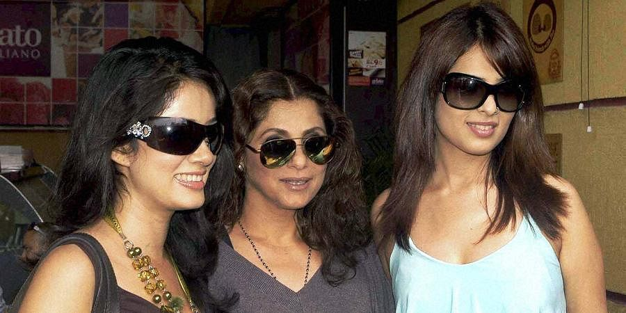 Bollywood stars Vidhya Malvade, Dimple Kapadia and Anjana during a promotional event for their film 'Tum Milo To Sahi' in Mumbai.