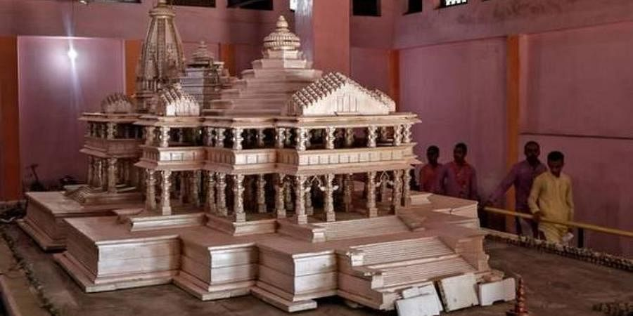 A model of the proposed Ram temple.