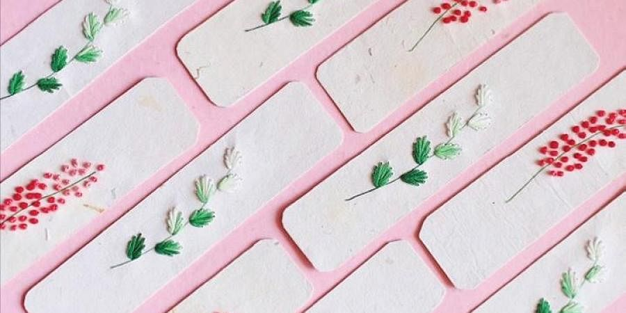 The city-based photographer started a small initiative of selling hand-embroidered bookmarks.