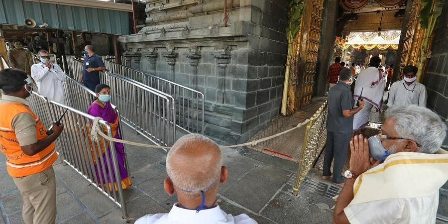 TTD chairman YV Subba Reddy along with additional EO AV Dharma Reddy inspected Vaikuntham queue lines and ladoo counters inside the Venkateshwara temple along with senior officers in Tirumala