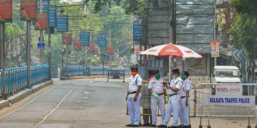 coronavirus, Kolkata police, lockdown, Kolkata