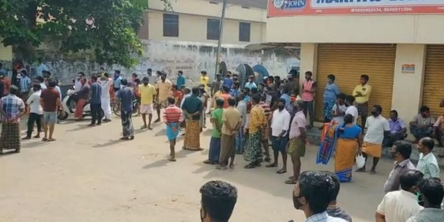 Essentials not available: Poonthura residents protest amid triple lockdown due to 'local transmission'