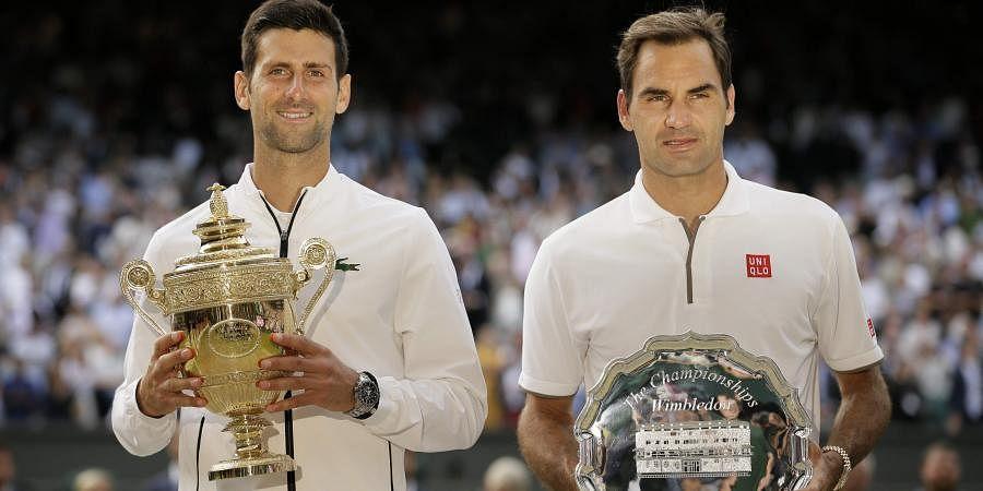 Novak Djokovic and Roger Federer produced the longest Wimbledon men's singles final in 2019. (Photo | AP)