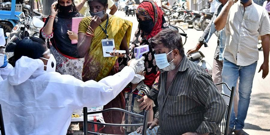 Fever clinic to find Corona on the streets of Kaladipet on Friday in Chennai.