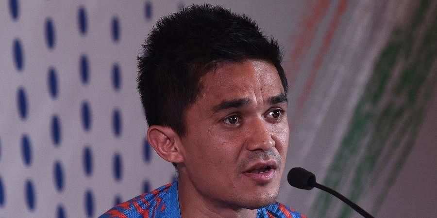 Indian football team captain Sunil Chhetri