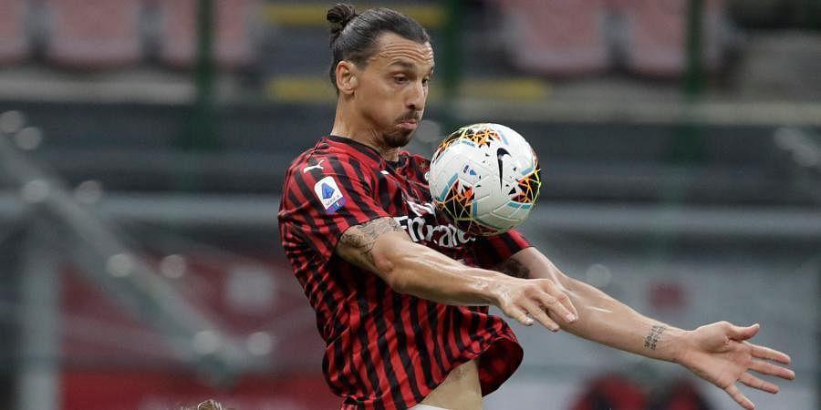 AC Milan striker Milan Zlatan Ibrahimovic