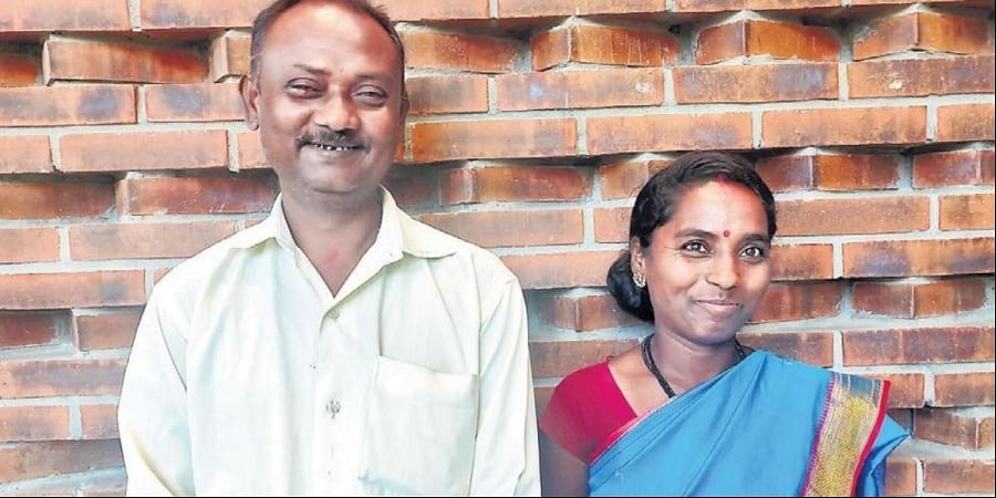 Artist couple Asha and Hari Krishna Nayak