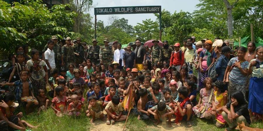 The refugees, mostly women and children, were taking refuge in Lungpuk and Khaikhy villages of southern Mizoram to evade alleged atrocities from the Arakan Army.
