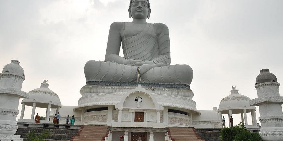 Dhyana Buddha statue at Amaravati in Guntur