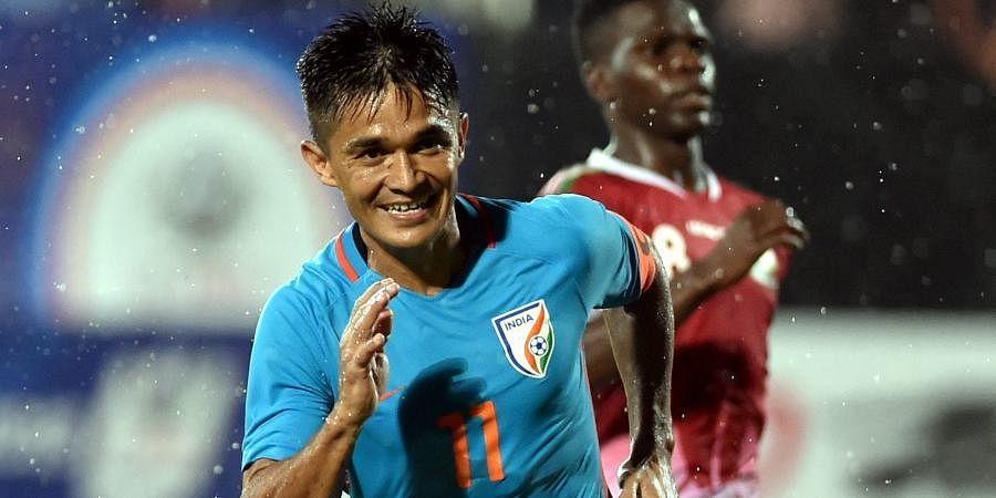 Indian striker Sunil Chhetri