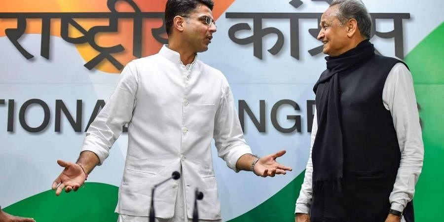 Rajasthan CM Ashok Gehlot and deputy CM Sachin Pilot