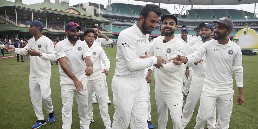 India's cricket team . | AP