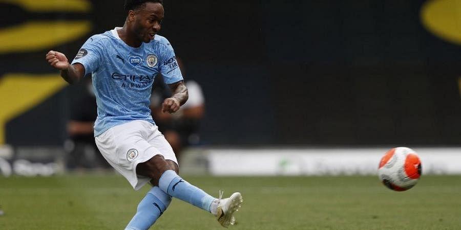 Manchester City's English midfielder Raheem Sterling. (Photo | AFP)