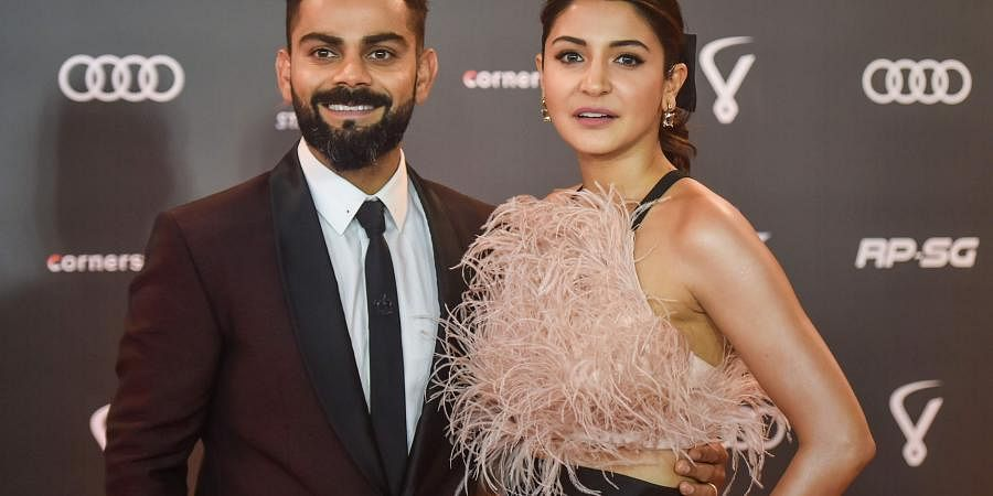 Indian cricketer Virat Kohli and wife Anushka Sharma arrive for the Indian Sports Honours awards in Mumbai. (Photo | PTI)