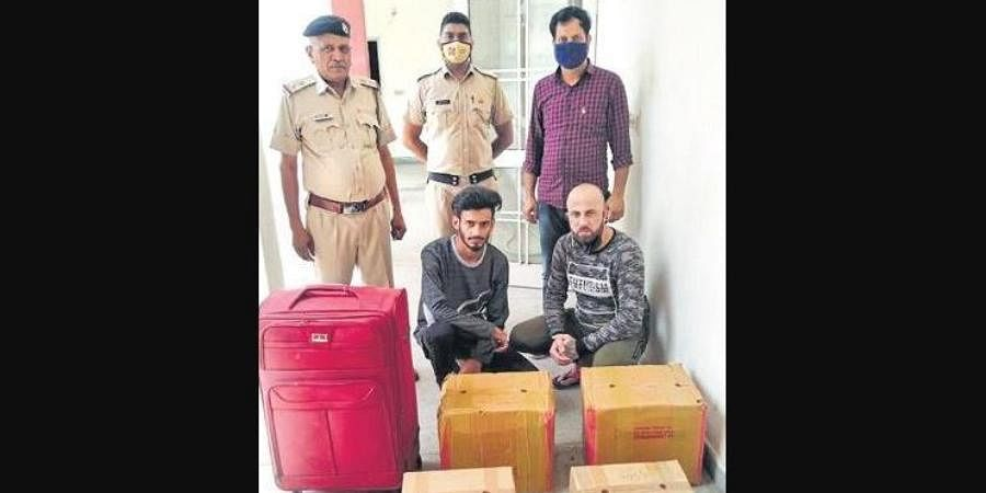 Haryana drug control authorities, along with local police, busted the international drug smugglers.