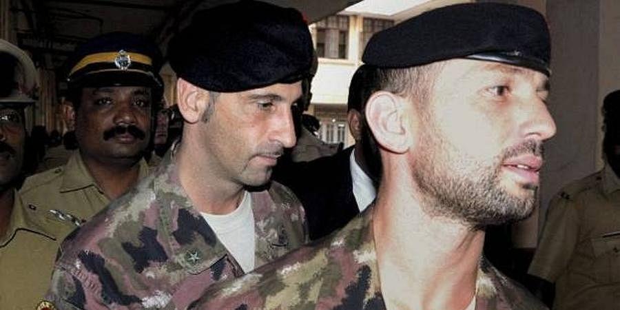 Italian marines Salvatore Gironeand Massimiliano Latorre