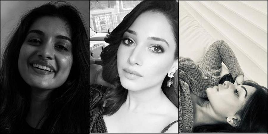 Nivetha Thomas, Tamannah and Samantha take the #BlackandWhite challenge