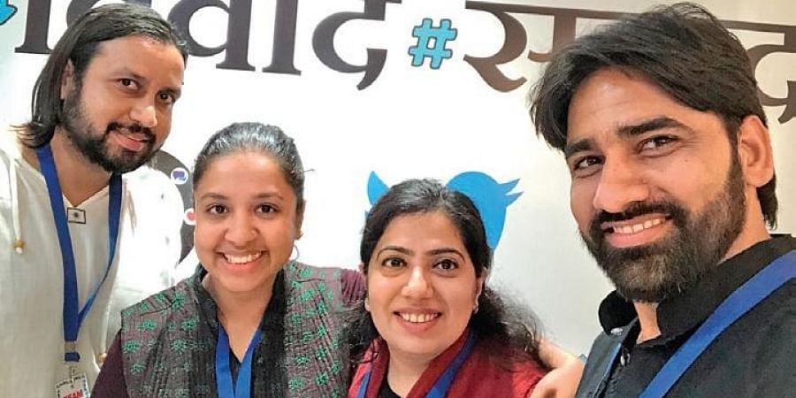 (From left) Founder Amitabh Kumar with the Social Media Matters Team
