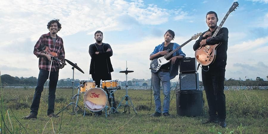 (From left) Veecheet Dhakal, Joe Panicker, Anudwatt Dhakal and Siddhant Mani Chettri