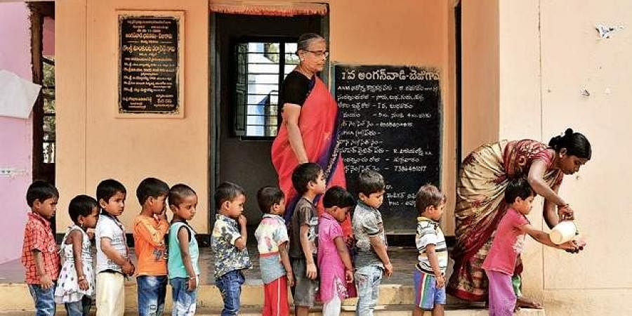 Representational image of an Anganwadi school